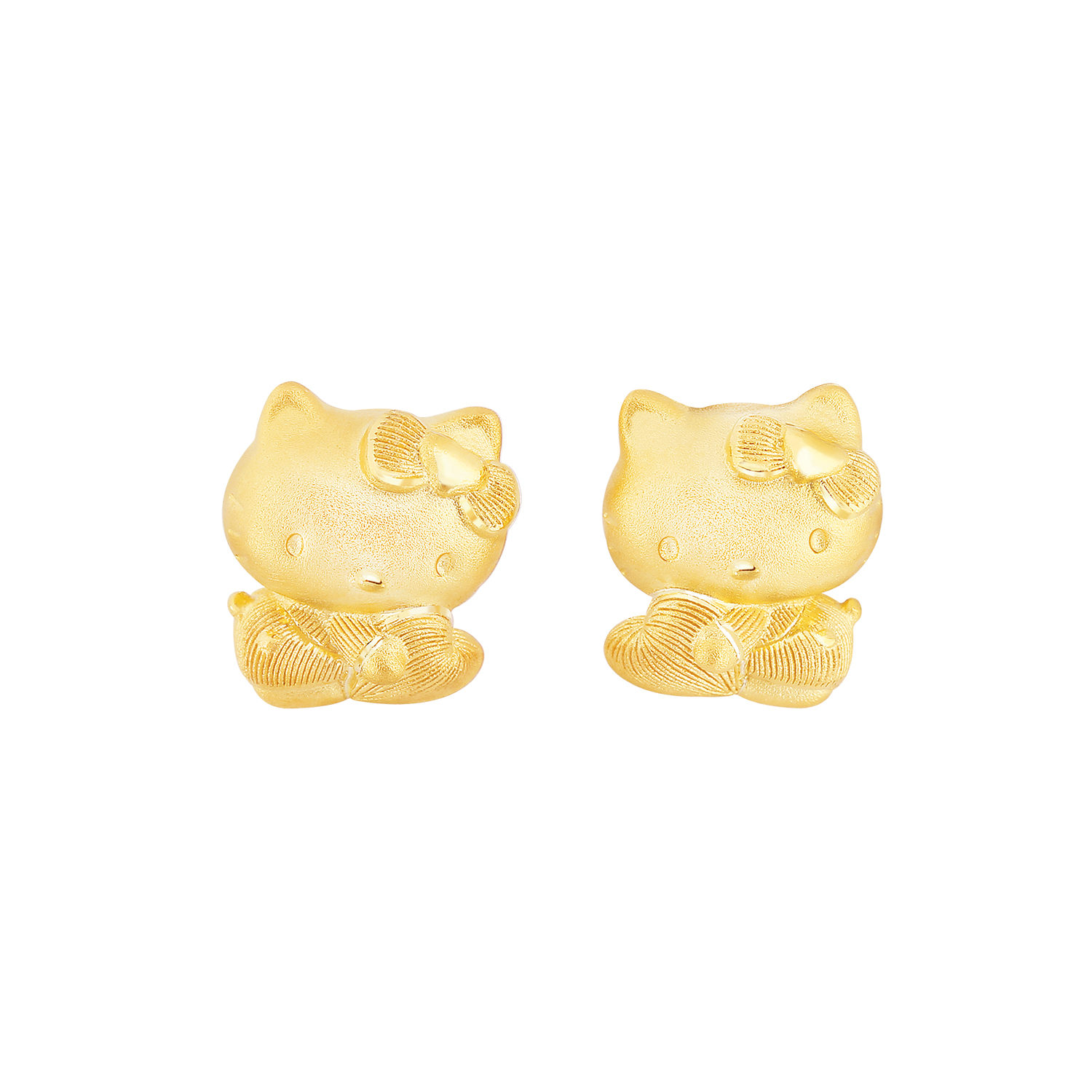 Hello Kitty Earring Prima Gold พร ม าโกลด
